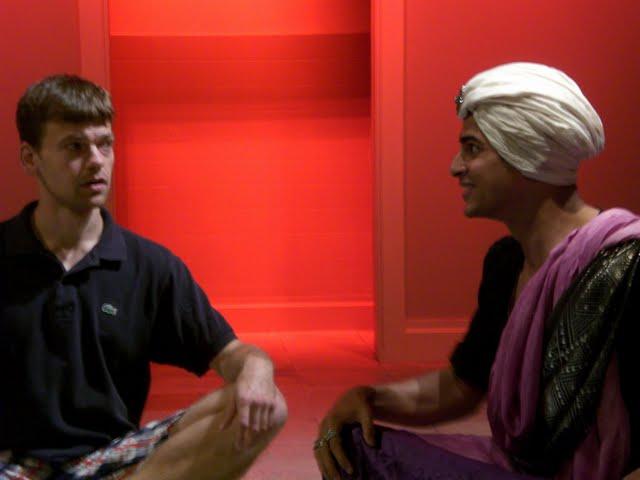 Tim mets the Hindhi Shah (Rushi Kota)